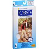 JOBST ActiveWear Knee High Socks Moderate Compression Closed Toe Cool White, Large #110481, Pack of 2