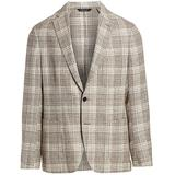 Collection Lightweight Plaid Sport Jacket - Natural - Saks Fifth Avenue Jackets