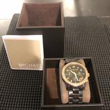 Michael Kors Accessories | Black Diamond Studded Ceramic Michael Kors Watch | Color: Black | Size: Os
