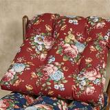 Bella Rose Chair Cushions Set of Two, Set of Two, Red