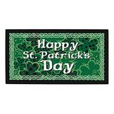 ThisWear St. Patricks Day Decorations St Patricks Day Welcome Mat Decor for St. Patricks Party Doormat Green