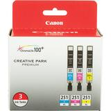 Canon CLI-251XL 3-Cartridge Color Ink Set 6449B009