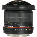 Samyang 8mm f/3.5 HD Fisheye Lens with Removable Hood for Canon SYHD8M-C