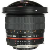 Samyang 8mm f/3.5 HD Fisheye Lens with AE Chip and Removable Hood for Nikon SYHD8M-N
