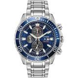 Chronograph Promaster Diver Stainless Steel Bracelet Watch 46mm - Metallic - Citizen Watches