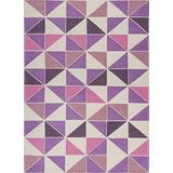 """Retreat 130 Ivory/Pink Kaleidoscope Accent Rug in Ivory/Pink, 26"""" x 45"""""""