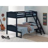 Coaster Home Furnishings Pauline Solid Wood Twin Over Full Bunk Bed, Navy Blue