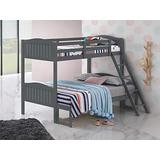 Coaster Home Furnishings Pauline Solid Wood Twin Over Full Bunk Bed, Gray