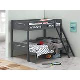 Coaster Home Furnishings Armand Solid Wood Twin Over Full Bunk Bed, Gray
