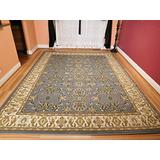 Large Persian Style Rugs Traditional Rug Grayish Blue 8 11 Blue Rugs Cream Green Beige 8 x 10 Area Rugs for Living Room Prime Large 8x11