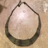 Anthropologie Jewelry   Anthropologie Bronze Collar Necklace   Color: Gold   Size: Os