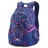 High Sierra Loop Backpack, 19 x 13.5 x 8.5-Inch, Triangle Party/Tru Navy/Hyacin