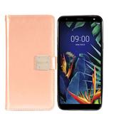 Faux Leather Mobile Phone Wallet Case with detachable magnetic slim case, Rose Gold For Solo LTE