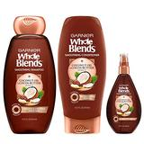 Garnier Hair Care Whole Blends Smoothing Coconut Oil and Cocoa Butter Extracts Shampoo, Conditioner, and Smoothing Oil, For Frizzy Hair 1 Kit