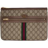 Ophidia GG Supreme Pouch - Brown - Gucci Clutches