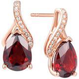 Amethyst (2-1/10 Ct. T.w.) & Diamond Accent Drop Earrings In 14k White Gold - Metallic - Macy's Earrings