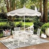 Pacific Pagoda 8.5 ft Patio Umbrella with Fringe Edge Canvas Spa Sunbrella - Ballard Designs