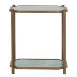 Kendall Rectangle Side Table Antique Mirror - Ballard Designs