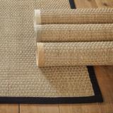 Seagrass Area Rug Black 6' x 9' - Ballard Designs