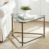 Kendall Triangle Side Table Antique Mirror Top - Ballard Designs