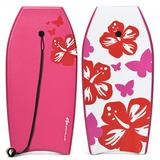 Costway Lightweight Bodyboard Surfing with Leash EPS Core Boarding IXPE-L