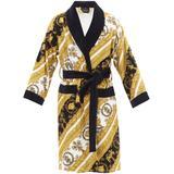 White And Gold I Heart Baroque Robe - Yellow - Versace Nightwear