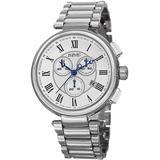 Chronograph Quartz Silver Dial Watch - Metallic - August Steiner Watches