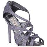 Junebug Evening Sandal Pewter Glitter - Metallic - Badgley Mischka Heels
