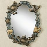 Turtle and Sealife Wall Mirror Antique Gold , Antique Gold