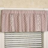 Silk Allure Quilted Valance 60 x 18, 60 x 18, Fawn
