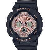 Casio BA130-1A4 Women's Black Analog Digital Alarm Chronograph Baby G Watch