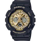 Casio BA130-1A3 Women's Black Analog Digital Alarm Chronograph Baby G Watch