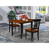 East West Furniture Dining Table Set, Black and Cherry