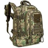 Paladins Backpack Large Work Backpack Military Camo Backpack Molle System Waterproof for Men (Green Digital)