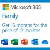 Microsoft 365 Family   Premium Office Apps   1TB OneDrive Cloud Storage   3 Months Free, Plus 12-Month Subscription, up to 6 People   PC/Mac Download (Renews to 12-Month Subscription)