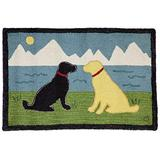 Chandler 4 Corners Artist-Designed Lake Side Labs Hand-Hooked Wool Accent Rug (2' x 3')