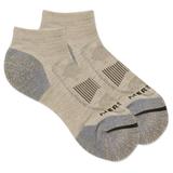 Merrell Men's Zoned Low Cut Hiker Sock, Size: M/L, Oatmeal Heather