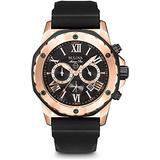 Bulova Marine Star Stainless Steel Rose Gold Tone Chronograph Watch - Men