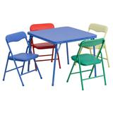 Kids Colorful 5 Piece Folding Table and Chair Set - Flash Furniture JB-9-KID-GG