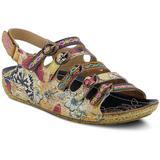 Taffyta Wedge Sandal - Brown - Spring Step Heels