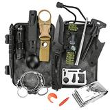 Survival Kit, 12 in 1 Emergency Survival Kit, Survival Gear and Equipment, Emergency EDC Survival Tools SOS Earthquake Aid Equipment kit for Hiking, Hunting, Camping Adventures, Outdoors Sport