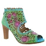 Spring Step L'Artiste Loverlee - Womens Euro 38 US 7.5 - 8 Blue Sandal Medium