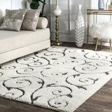 Charlton Home® Nichole Floral Beige Area Rug Polypropylene in Brown/White, Size 72.0 H x 48.0 W x 1.18 D in   Wayfair