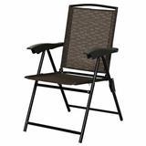 Costway Patio Garden Camping Fabric Folding ChairFabric in Black, Size 35.5 H x 21.0 W x 27.0 D in   Wayfair OP3687