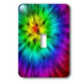 3dRose Tie Dye 4 Starburst Tie Dye Design Displays a Spectrum Of Different Colors Single Toggle Light Switch in Blue/Green/Yellow   Wayfair