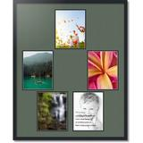 ArtToFrames Mat Grouping 146 Collage Picture Frame Plastic/Metal in Blue, Size 32.0 H x 34.0 W x 0.75 D in | Wayfair C3926FG495
