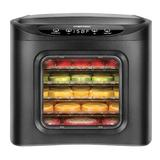 Chefman 6 Tray Healthy Food Dehydrator Machine, Digital Touch Screen Electric Multi-Tier Food Preserver, Beef Jerky Maker, Fruit Leather in Black