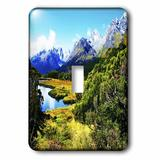 3dRose Routeburn Track Landscape 1-Gang Toggle Light Switch Wall Plate in Green, Size 5.0 H x 3.5 W x 0.06 D in | Wayfair lsp_48122_1