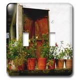 3dRose Flowers on an Old Deck Yelapa Mexico 2-Gang Toggle Light Switch Wall Plate in Red, Size 5.0 H x 4.5 W x 0.06 D in | Wayfair lsp_22792_2