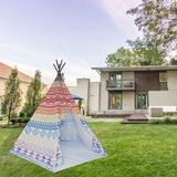 """e-Joy 56"""" x 56"""" Outdoor Fabric Pop-Up Play Tent Fabric in Gray, Size 89.0 H x 56.0 W x 56.0 D in 